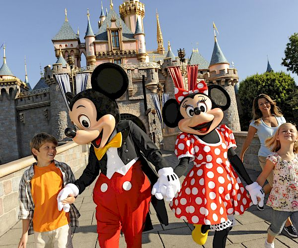 Mickey and Minnie Mouse at DISNEYLAND® Resort