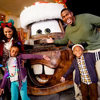 Family with Mater at DISNEYLAND® Resort
